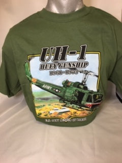 UH-1 Huey Helicopter T-Shirt