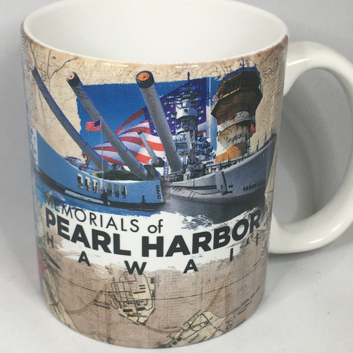 Memorials of Pearl Harbor Hawaii Mug
