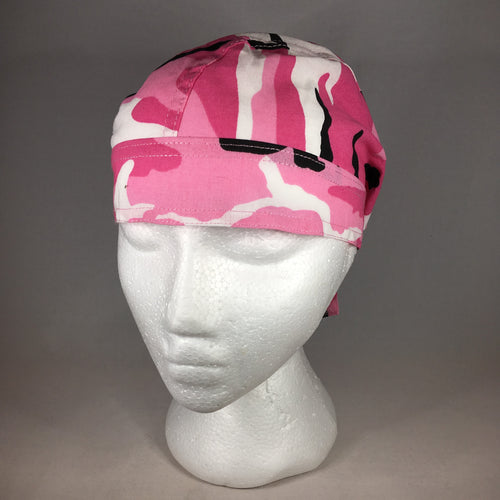 Ladies Pink Camoflage Headwrap