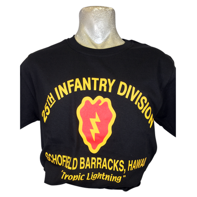 25th Infantry Division T-Shirt Black - Adult
