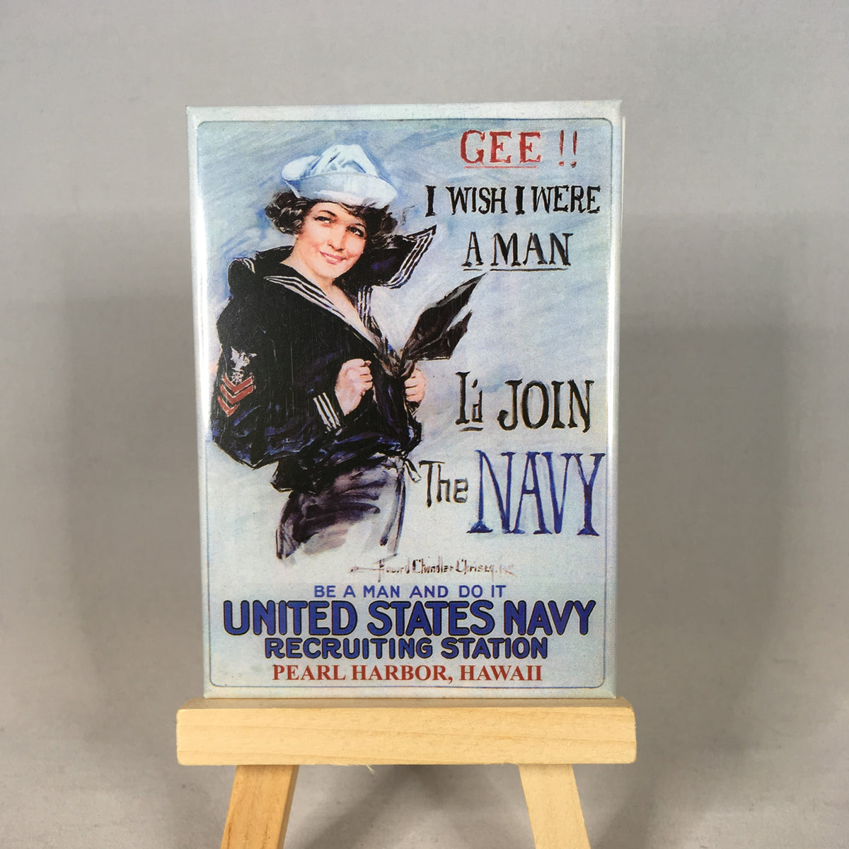 Navy Recruiting Retro Magnet