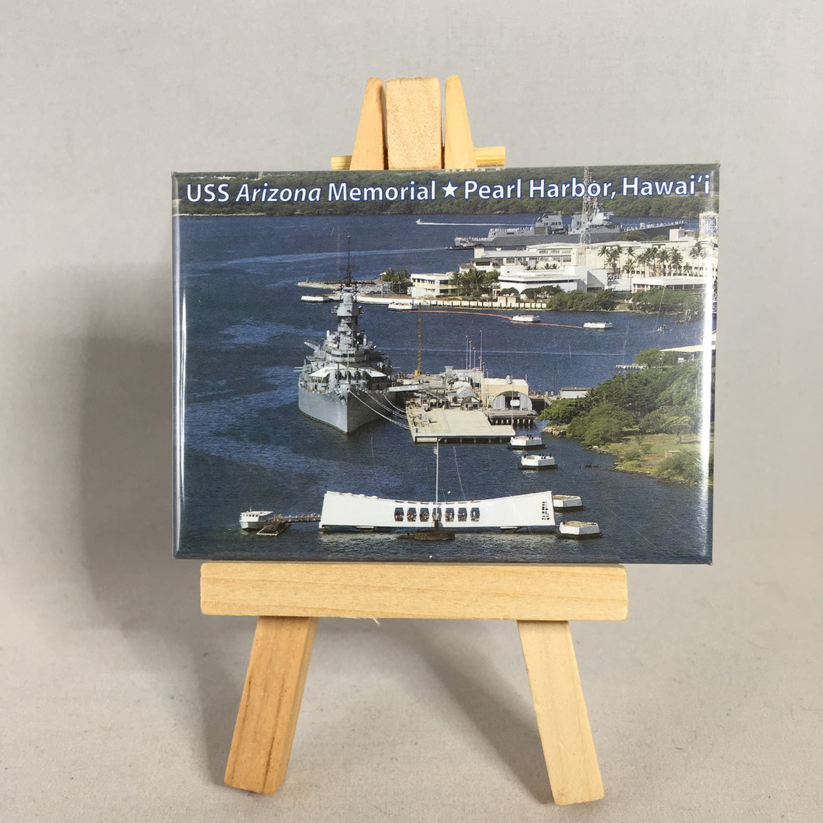 USS Arizona & USS Missouri Aerial View Magnet