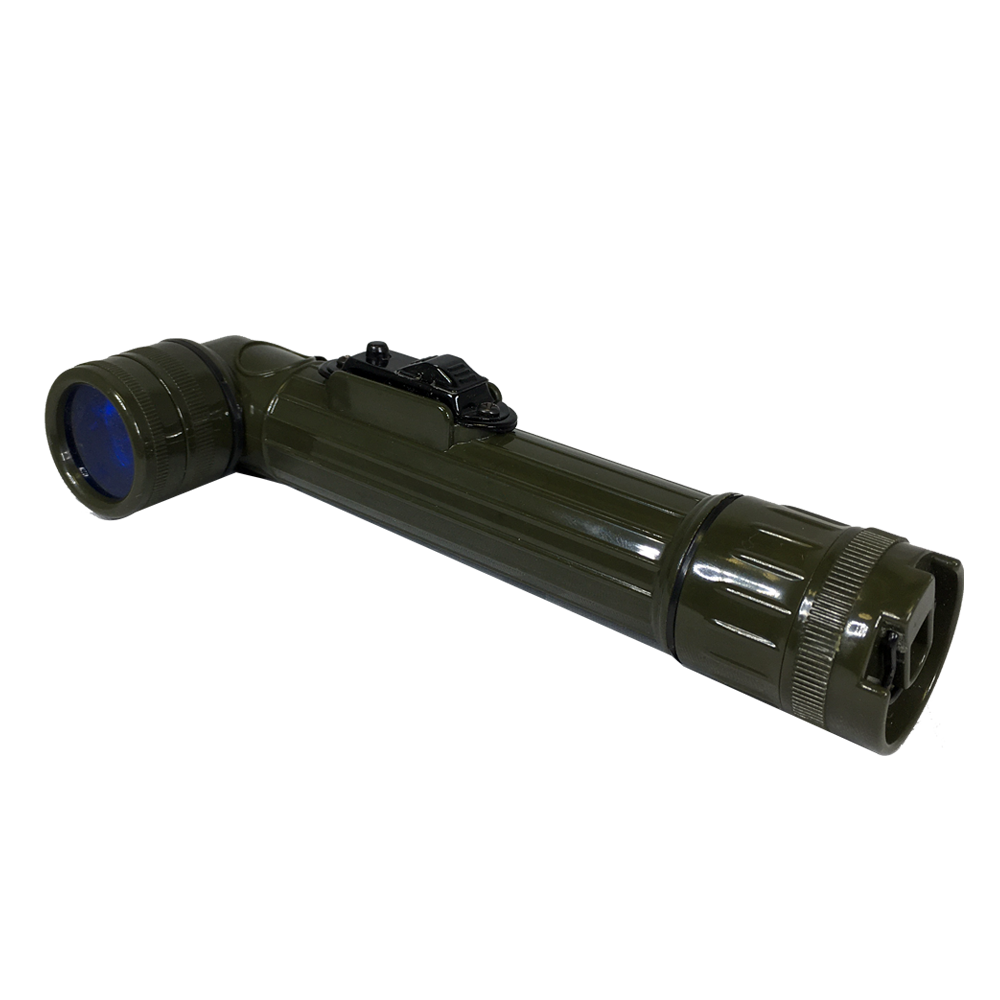 WWII OD Green Flashlight