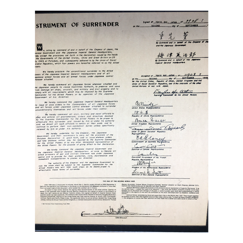 WWII Surrender Document
