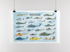 Military Helicopters Poster