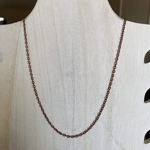 Red Copper Necklace Chain - 20in