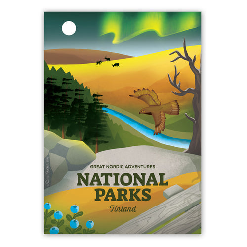 National Parks Finland -juliste A4