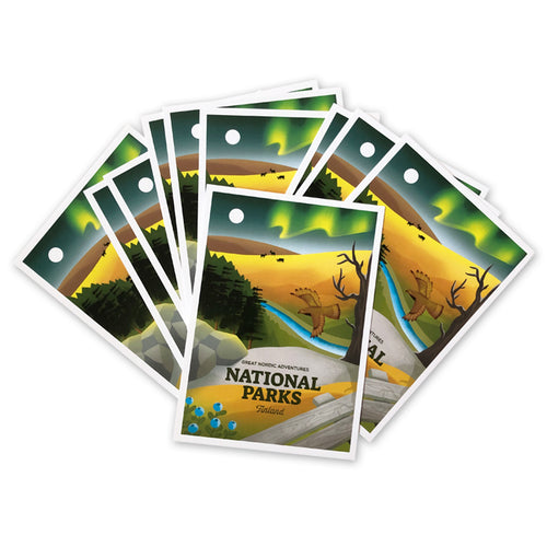 National Parks Finland postcards, 5 pcs