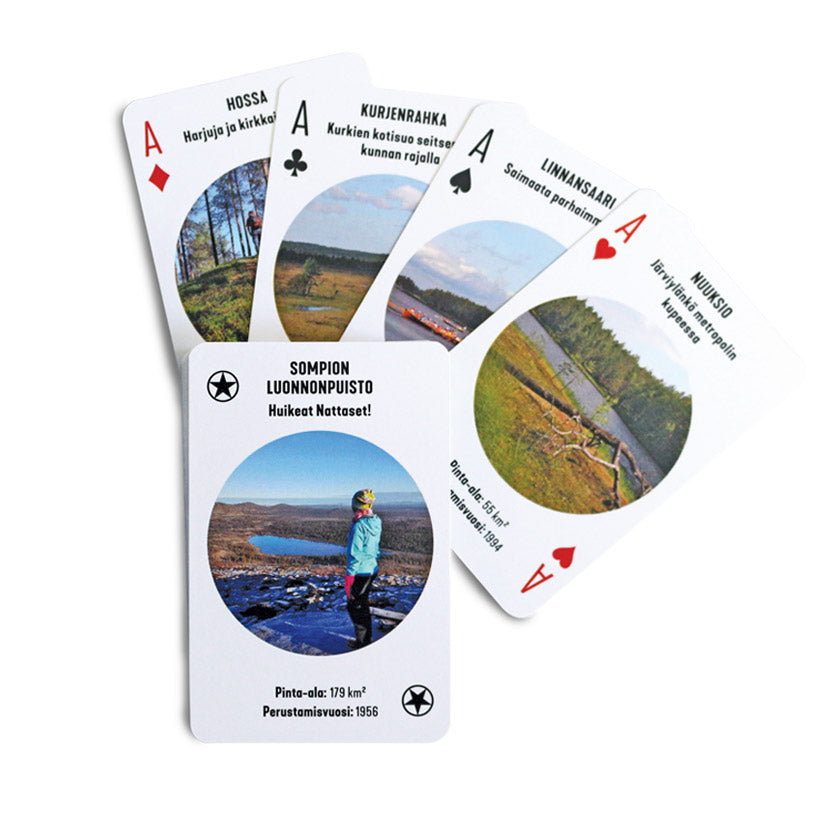 Finnish National Parks playing cards