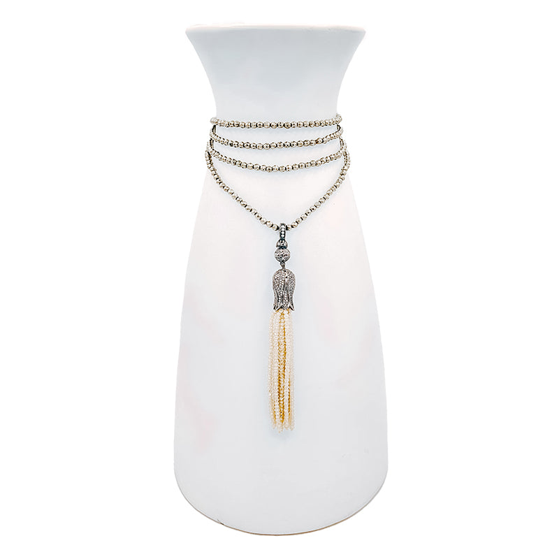 Kelly Necklace with Crystal Tassel
