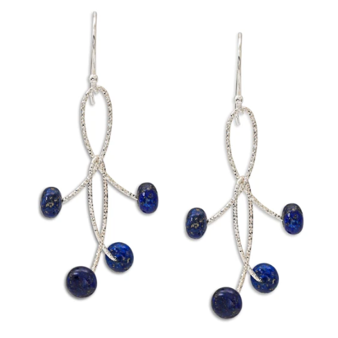 Blue Lapis Orbit Earrings