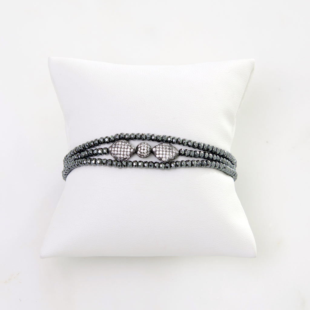 The Stephanie G Wristlet Pave