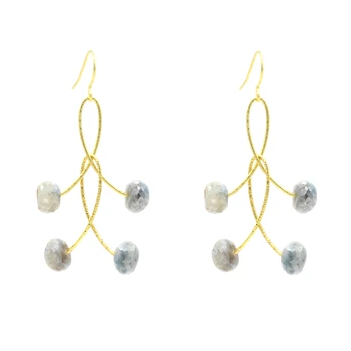 White Sapphire Orbit Earrings In Silver Or Gold