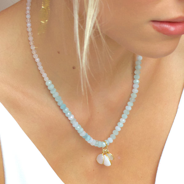 Windsor Collection Aquamarine Short Necklace