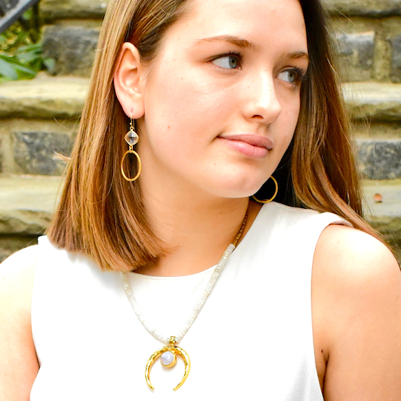 Windsor Collection Moonstone Short Necklace