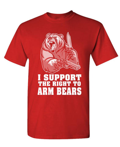 I SUPPORT THE RIGHT TO ARM BEARS - Unisex Cotton T-Shirt Tee Shirt (tee)