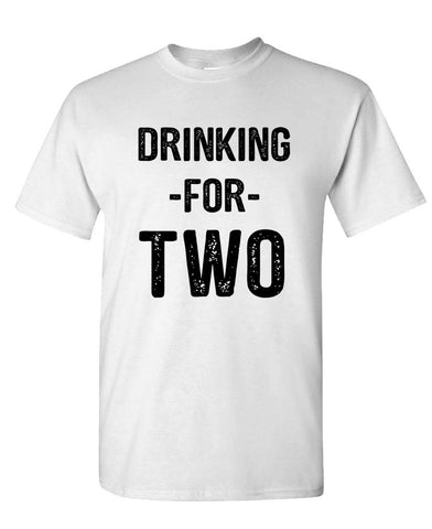 DRINKING FOR TWO - Unisex Cotton T-Shirt Tee Shirt (tee)