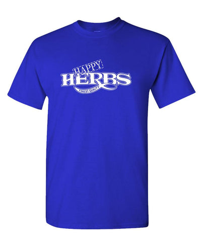 HAPPY HERBS Finest Quality - funny retro - Unisex Cotton T-Shirt Tee Shirt (tee)