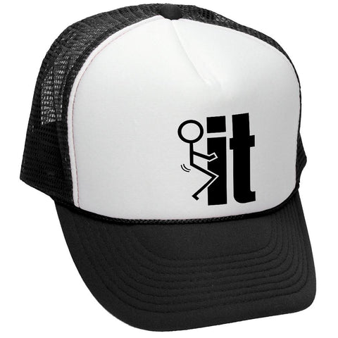 F-- IT - Retro Style Trucker Hat (trucker)