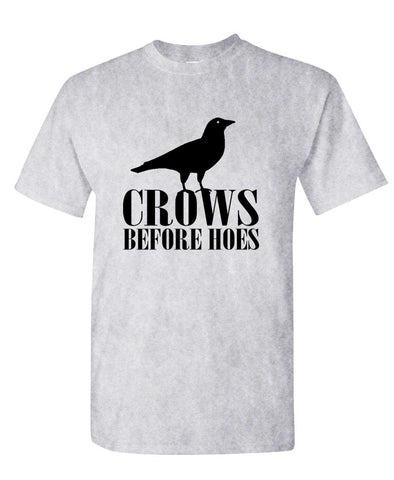 CROWS BEFORE HOES - Unisex Cotton T-Shirt Tee Shirt (tee)
