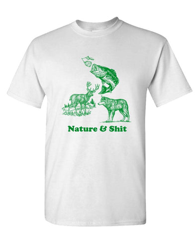 NATURE & SHIT - Unisex Cotton T-Shirt Tee Shirt (tee)