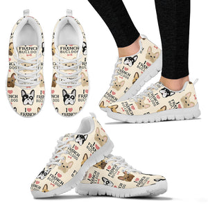 I Love French Bulldogs Women's Sneakers