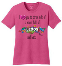 Load image into Gallery viewer, I Love You Across a Room Full of Legos and Back! Shirt