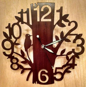 Woodland Forest Wooden Clock