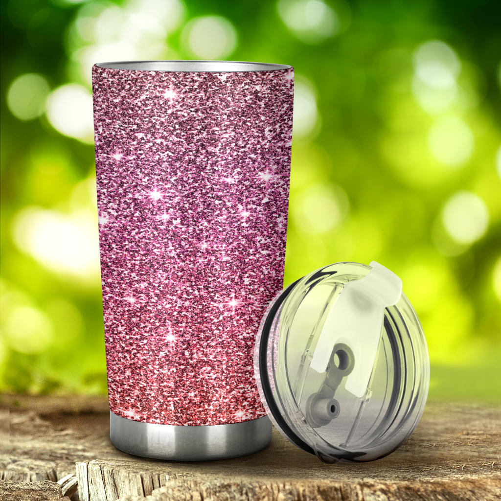 Rose Gold Sparkle Tumbler