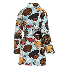 Load image into Gallery viewer, Dog Lovers Women's Bath Robe