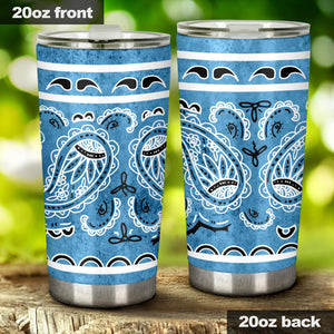 Denim Blue Bandana Tumbler