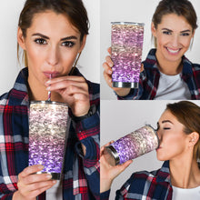 Load image into Gallery viewer, Rainbow Glitter Effect Tumbler