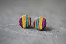 Load image into Gallery viewer, CIRCLE STUD EARRINGS