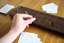Load image into Gallery viewer, WALNUT CRIBBAGE BOARD
