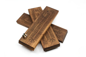 WALNUT CRIBBAGE BOARD