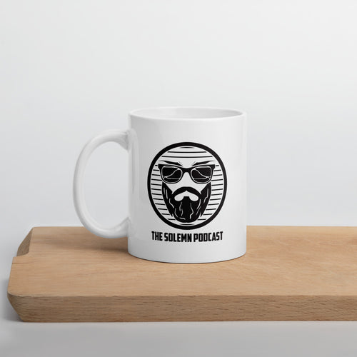 The Solemn Podcast Mug