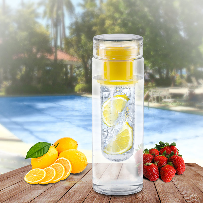 Infuze H2O 24oz Fruit Infusion Water Bottle Yellow BPA Free - Flashpopup.com