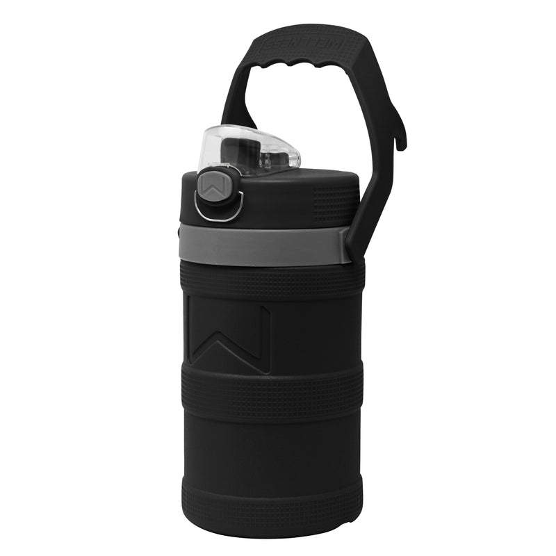 Insulated Water Bottle 64oz with Handle, Black