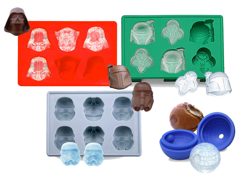 Star Wars 4-Pack Assorted Silicone Ice Tray - Galactic Empire Collection - Flashpopup.com