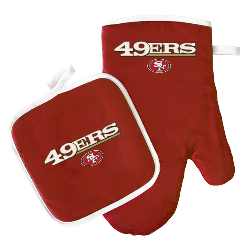 NFL San Francisco 49ers Oven Mitt & Pot Holder Set - Flashpopup.com
