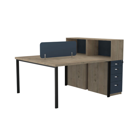 Onyx Workstation 2 Seater Face To Face