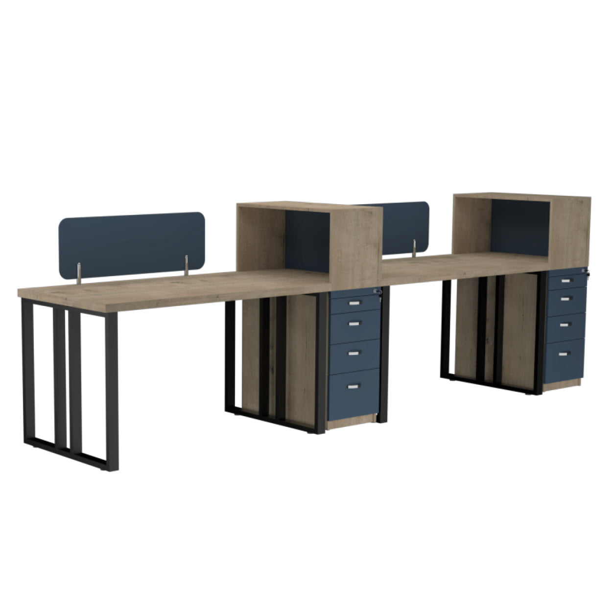 Onyx Workstation 2 Seater Side By Side