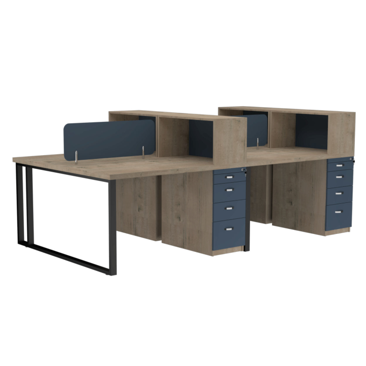 Onyx Workstation 4 Seater