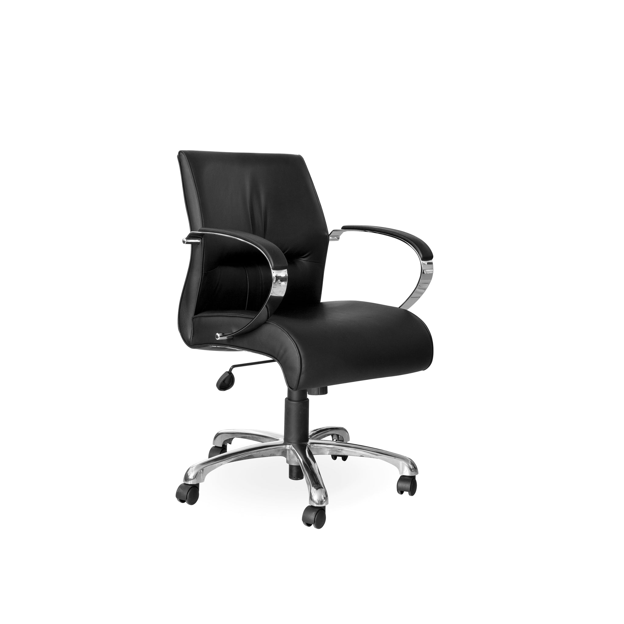 Hedcor Salvador Chrome office chair mid back