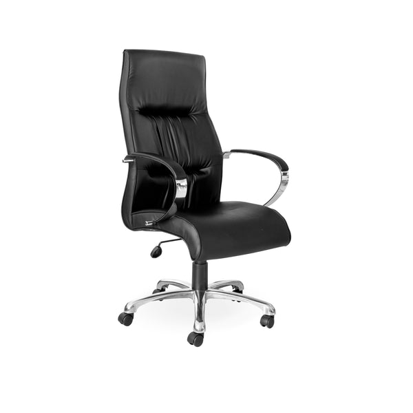 Hedcor Salvador Chrome office chair high back