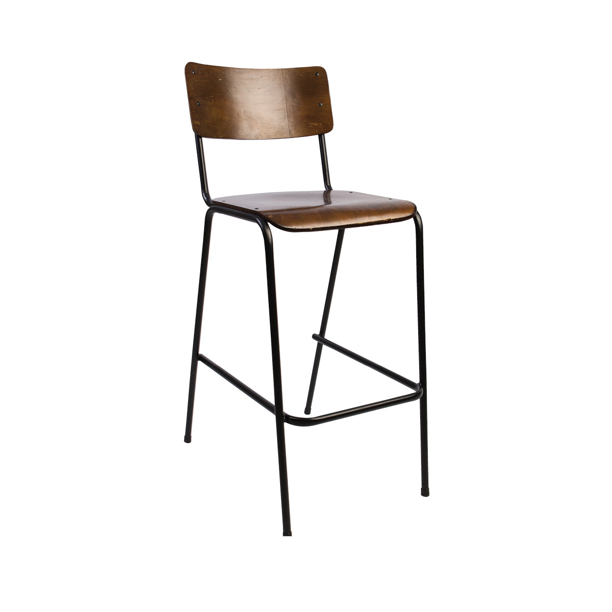 Hedcor school stacker bar chair stained