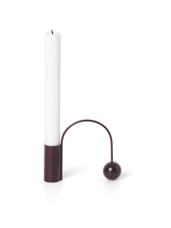 Balance Candle Holder Dark Aubergine