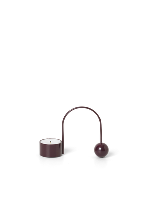 Balance T-Light Holder Dark Aubergine