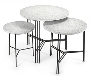 Terrazzo Side Tables Black
