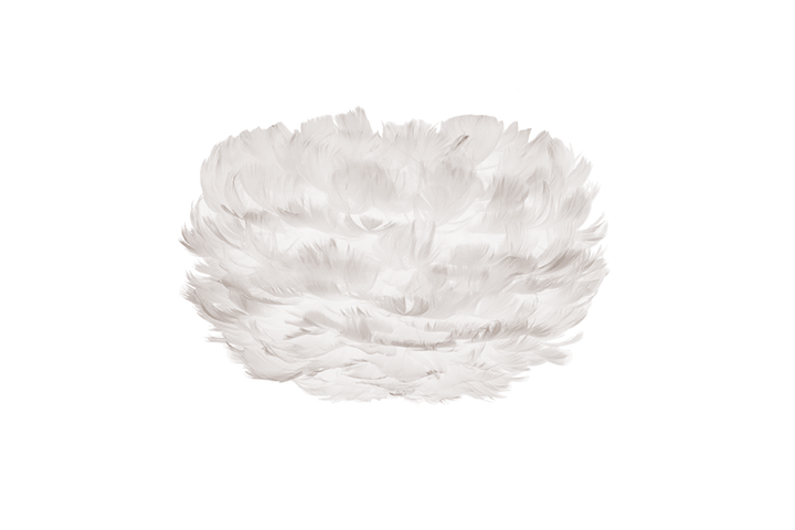 Eos White Feather Light Shade - 6 Sizes Available